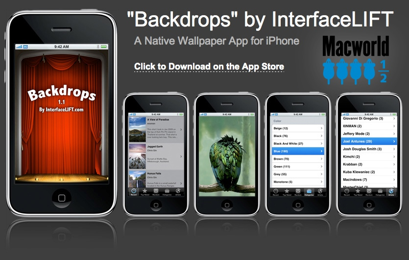 Download Backdrops on the Apple iTunes App Store