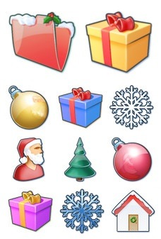 Desktop Icons Set: Xmas by