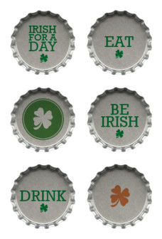Desktop Icons Set: St. Patrick's Day Bottle Cap Icons by 