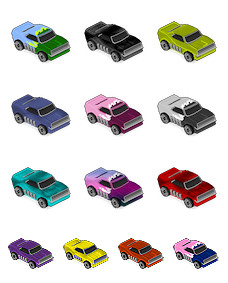 Desktop Icons Set: miniMicros #5 Dodge Charger by