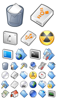 Desktop Icons Set: Rubber Icons by