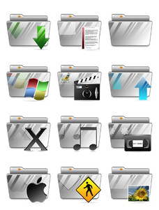 Desktop Icons Set: Vista MX Folders by