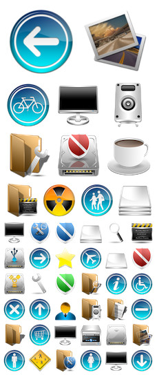 Desktop Icons Set: IMX by
