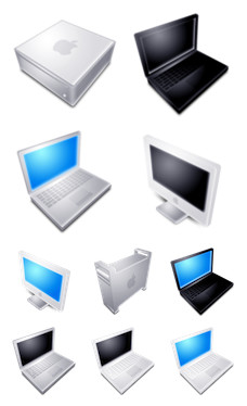 Desktop Icons Set: Blend Apple Hardware by