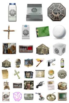Desktop Icons Set: LOST II by
