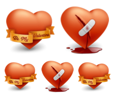 Desktop Icons Set: Happy Valentine's Day by