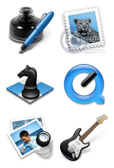 Desktop Icons Set: Black & Blue add-ons vol. 1 by