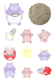Desktop Icons Set: Tubby Family by