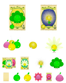 Desktop Icons Set: Flowerkins by