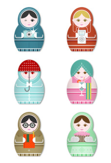 Desktop Icons Set: Matryoshka by 