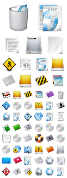 Desktop Icons Set: NOD by