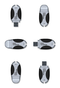 Desktop Icons Set: Lexar JumpDrive by