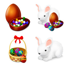 Desktop Icons Set: Happy Easter! by 