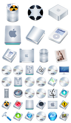 Desktop Icons Set: Stainless by