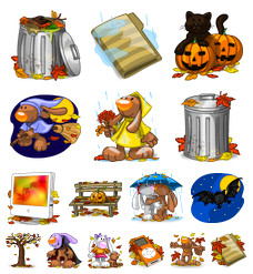 Desktop Icons Set: I Love Autumn! by