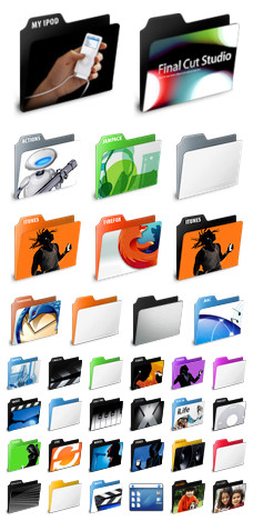 Desktop Icons Set: Application Folders by