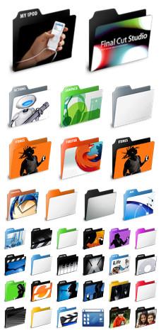 Desktop Icons Set: Application Folders by