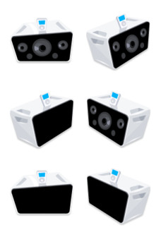 Desktop Icons Set: Comic iPod Hi-Fi by