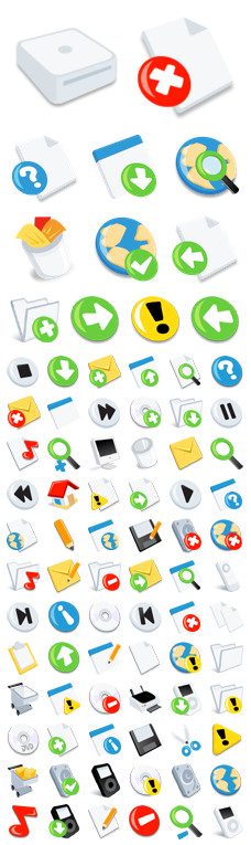 Desktop Icons Set: iSimple System 2.0 by 