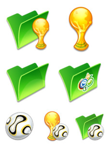 Desktop Icons Set: Comic World Cup by