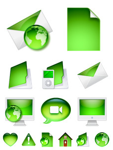 Desktop Icons Set: Green Ville 2 by 