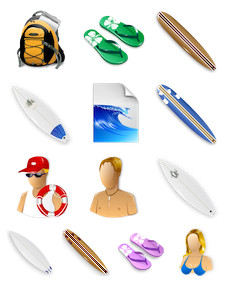 Desktop Icons Set: Surf by