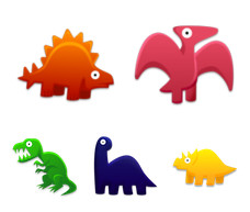 Desktop Icons Set: Dinosaur Toys by 