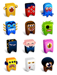 Desktop Icons Set: Creatures by
