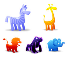Desktop Icons Set: Animal Toys by 