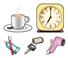 Desktop Icons Set: Wake Up by