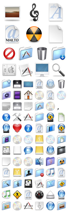 Desktop Icons Set: Aqua Neue Blue by