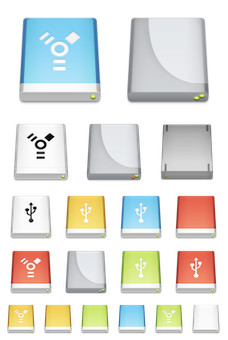 Desktop Icons Set: External Drives by