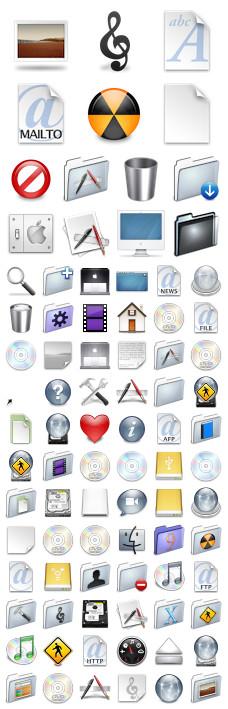 Desktop Icons Set: Aqua Neue Graphite by