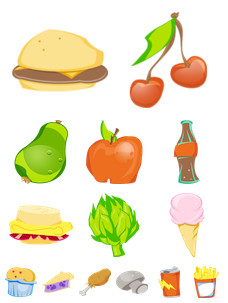 Desktop Icons Set: U R What U Eat by 