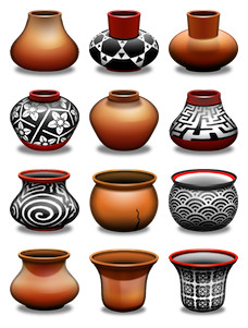 Desktop Icons Set: Clay Pots by
