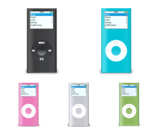 Desktop Icons Set: iPod nano (2nd Generation) by