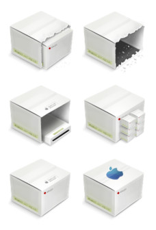 Desktop Icons Set: Boxes by