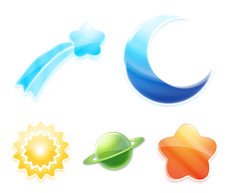 Desktop Icons Set: Universal Colors by
