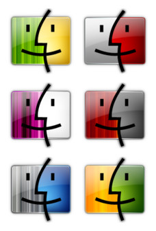 Desktop Icons Set: Finder Colors by