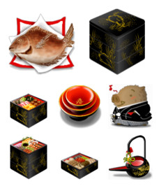 Desktop Icons Set: Japanese New Year by