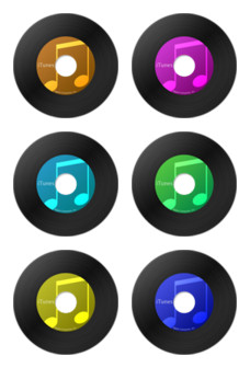 Desktop Icons Set: VinylTunes by