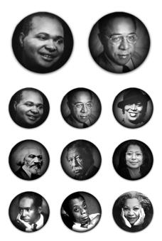 Desktop Icons Set: Black History Writers by
