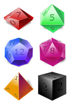 Desktop Icons Set: D&D Dice by