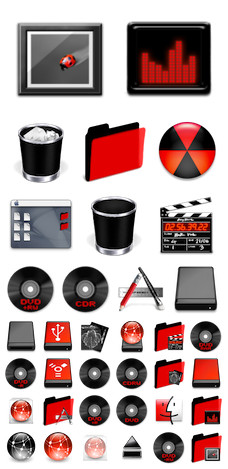 Desktop Icons Set: Seeing Red by