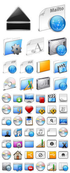 Desktop Icons Set: AquaBlend by