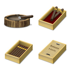 Desktop Icons Set: Cigars by