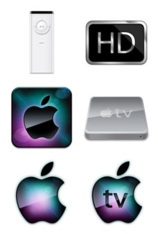 Desktop Icons Set: Apple TV by
