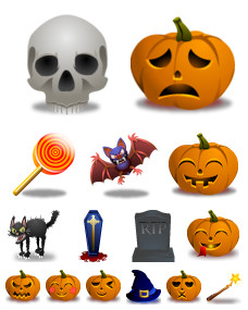 Desktop Icons Set: Halloween by