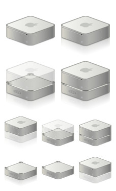Desktop Icons Set: Mac mini & LaCie min HD Hub by