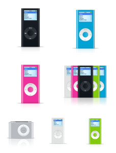 Desktop Icons Set: The New iPod Family by
